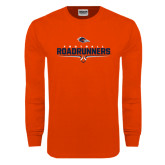 Orange Long Sleeve T Shirt-Roadrunners Football Underline