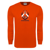 Orange Long Sleeve T Shirt-Roadrunners Football Vertical