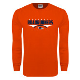 Orange Long Sleeve T Shirt-Roadrunners Football Horizontal