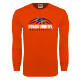 Orange Long Sleeve T Shirt-Roadrunners Basketball Half Ball