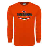 Orange Long Sleeve T Shirt-Roadrunners Baseball Plate
