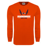 Orange Long Sleeve T Shirt-Roadrunners Track & Field Wings