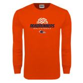 Orange Long Sleeve T Shirt-Roadrunners Volleyball Geometric Ball