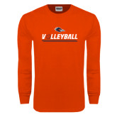 Orange Long Sleeve T Shirt-Volleyball Bar