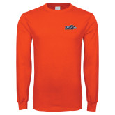 Orange Long Sleeve T Shirt-UTSA Roadrunners w/ Head Flat