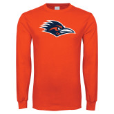 Orange Long Sleeve T Shirt-Roadrunner Head