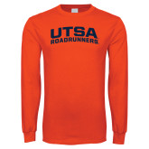 Orange Long Sleeve T Shirt-Arched UTSA