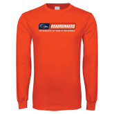 Orange Long Sleeve T Shirt-Roadrunners Bar w/ Head