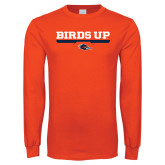 Orange Long Sleeve T Shirt-Birds Up