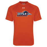 Under Armour Orange Tech Tee-UTSA Roadrunners w/ Head Flat