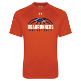 Under Armour Orange Tech Tee-Roadrunners Basketball Half Ball