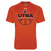 Under Armour Orange Tech Tee-UTSA Basketball Half Ball