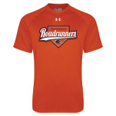 Under Armour Orange Tech Tee-Roadrunners Baseball Script w/ Plate