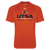 Under Armour Orange Tech Tee-UTSA Track & Field