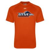 Under Armour Orange Tech Tee-UTSA Roadrunners w/ Head Flat
