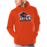 Under Armour Orange Armour Fleece Hoodie-Primary Logo