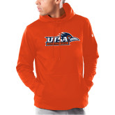 Under Armour Orange Armour Fleece Hoodie-UTSA Roadrunners w/ Head Flat
