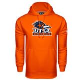 Under Armour Orange Performance Sweats Team Hood-Primary Logo