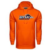 Under Armour Orange Performance Sweats Team Hoodie-UTSA Roadrunners w/ Head Flat