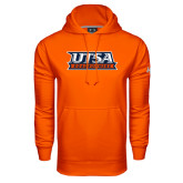 Under Armour Orange Performance Sweats Team Hood-UTSA Roadrunners Stacked