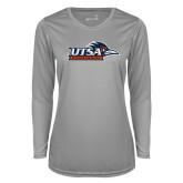 Ladies Syntrel Performance Platinum Longsleeve Shirt-UTSA Roadrunners w/ Head Flat