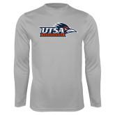 Performance Platinum Longsleeve Shirt-UTSA Roadrunners w/ Head Flat