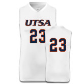 Replica White Adult Basketball Jersey-#23