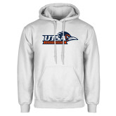 White Fleece Hoodie-UTSA Roadrunners w/ Head Flat