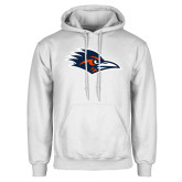 White Fleece Hoodie-Roadrunner Head