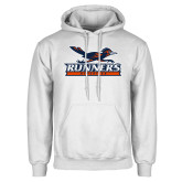 White Fleece Hoodie-Runners Athletics
