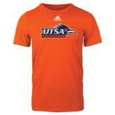 Adidas Orange Logo T Shirt-UTSA Roadrunners w/ Head Flat