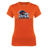 Ladies Syntrel Performance Orange Tee-Track & Field