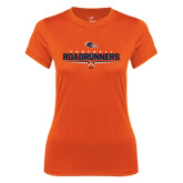 Ladies Syntrel Performance Orange Tee-Roadrunners Football Underline