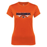 Ladies Syntrel Performance Orange Tee-Roadrunners Football Horizontal