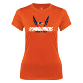 Ladies Syntrel Performance Orange Tee-Roadrunners Track & Field Wings