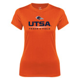 Ladies Syntrel Performance Orange Tee-UTSA Track & Field