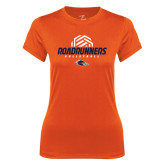 Ladies Syntrel Performance Orange Tee-Roadrunners Volleyball Geometric Ball