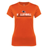 Ladies Syntrel Performance Orange Tee-Volleyball Bar