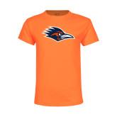 Youth Neon Orange T Shirt-Roadrunner Head