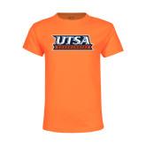 Youth Neon Orange T Shirt-UTSA Roadrunners Stacked