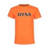 Youth Neon Orange T Shirt-UTSA