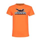 Youth Neon Orange T Shirt-Runners Athletics