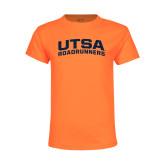 Youth Neon Orange T Shirt-Arched UTSA
