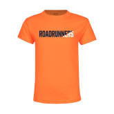 Youth Neon Orange T Shirt-Roadrunners Two Tone Diagonal