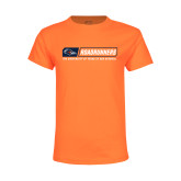 Youth Neon Orange T Shirt-Roadrunners Bar w/ Head