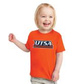 Toddler Orange T Shirt-UTSA Roadrunners Stacked