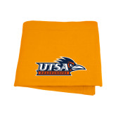 Orange Sweatshirt Blanket-UTSA Roadrunners w/ Head Flat