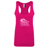 Next Level Ladies Raspberry Jersey Racerback Tank-Primary Logo Foil