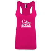 Next Level Ladies Raspberry Jersey Racerback Tank-Primary Logo