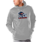 Under Armour Grey Armour Fleece Hoodie-Primary Logo
